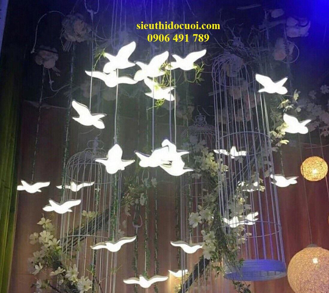 Bộ thả chim đèn led trang trí