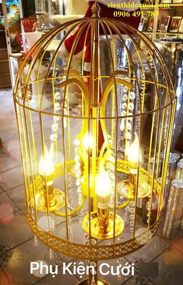 Đèn chùm nến lồng chim