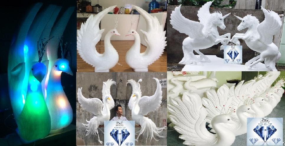 Chim mô hình trang trí