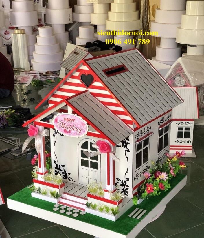 Thùng tiền đám cưới hình ngôi nhà