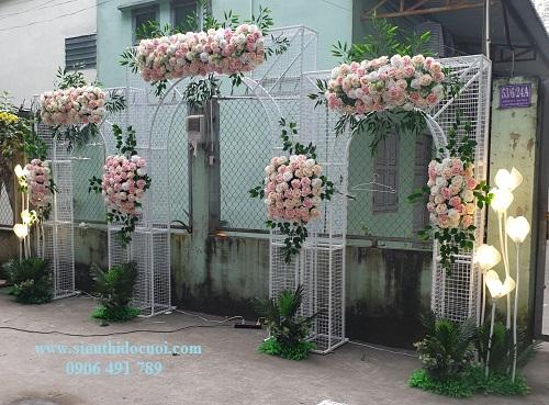 Cổng hoa đám cưới 3d